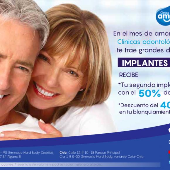 Promoción de implantes y blanqueamiento